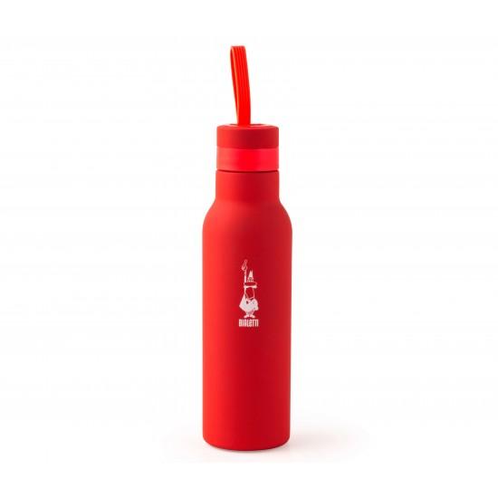 Garrafa Squeeze Vermelha 500 ml - Aço Inox - Bialetti