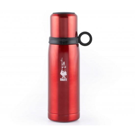 Garrafa Térmica Vermelha 460 ml - Aço Inox - Bialetti