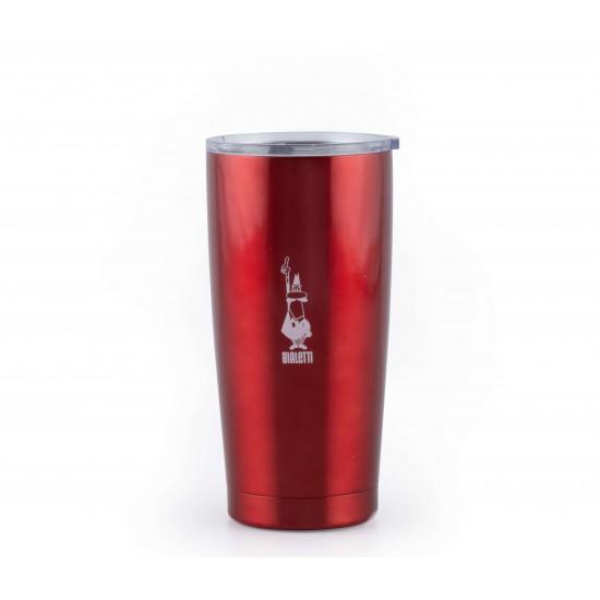Mug Vermelha 550 ml - Aço Inox - Bialetti