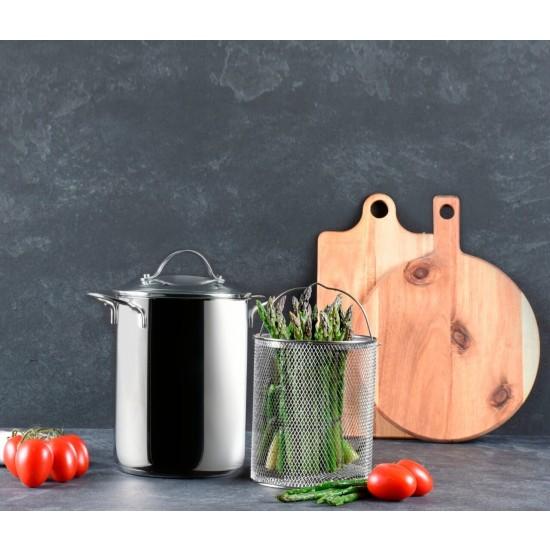 Panela Aço Inox para Pasta e Vegeteis - 4 Litros - Bialetti